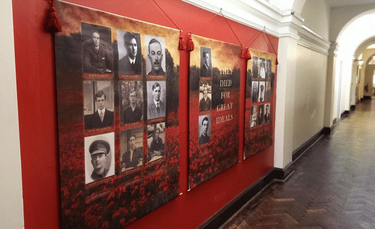 War memorial display