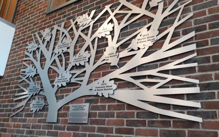 Award sculpture for Leighton Park School