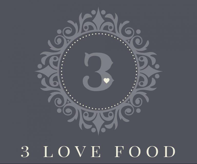 3lovefood logo design