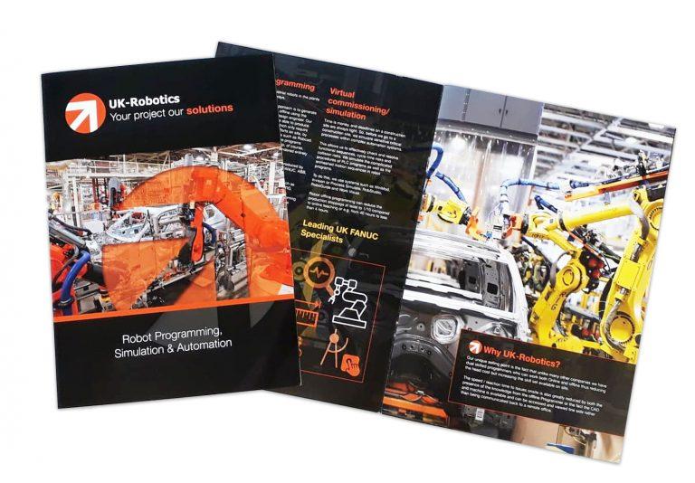 UK Robotics brochure designed by Create22