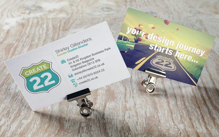 Create22 business cards
