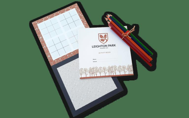 Leighton Park colouring book Create22
