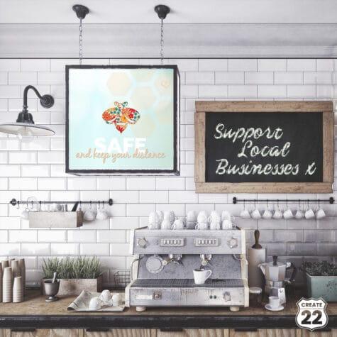 Retro Bee Cafe Art by Create22