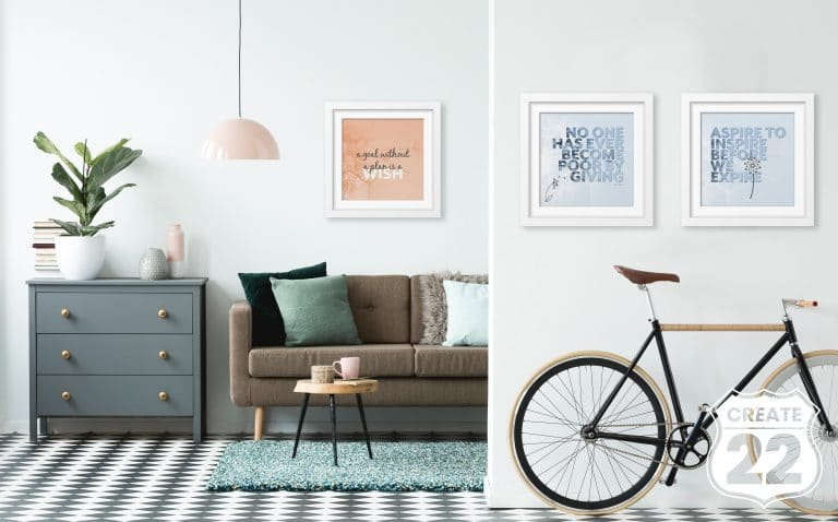 Inspirational quotes set of 3 wall art by Create22