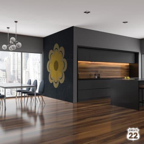 Wall art Retro Mandala design by Create22